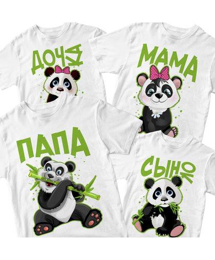 "Комплект футболок ""Панды"""