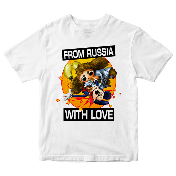 "Белая футболка ""From Russia with love"""