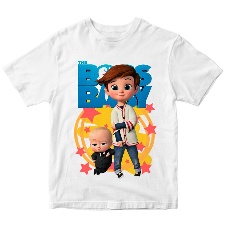"""Детская футболка """"Босс-молокосос и Тим"""""""