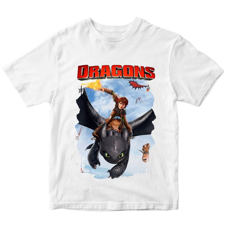 """Детская футболка """"Иккинг и Беззубик"""""""