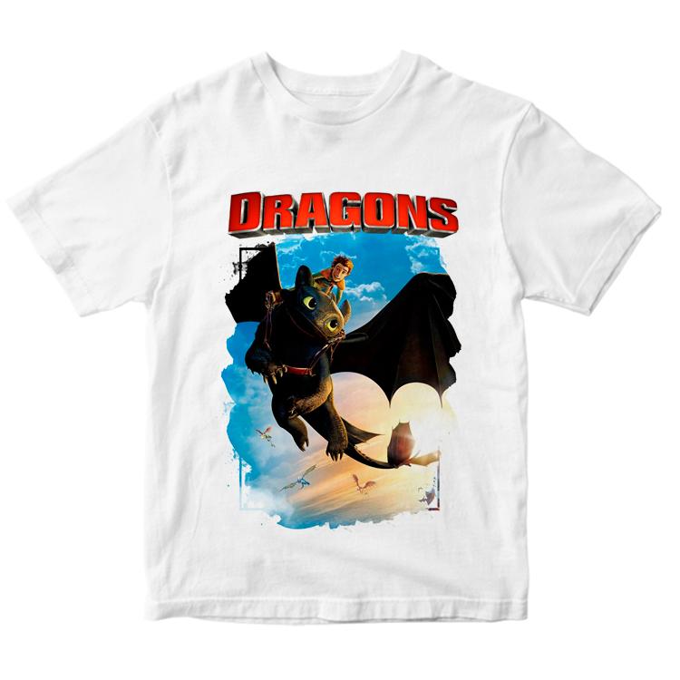"""Детская футболка """"Викинг и дракон"""""""