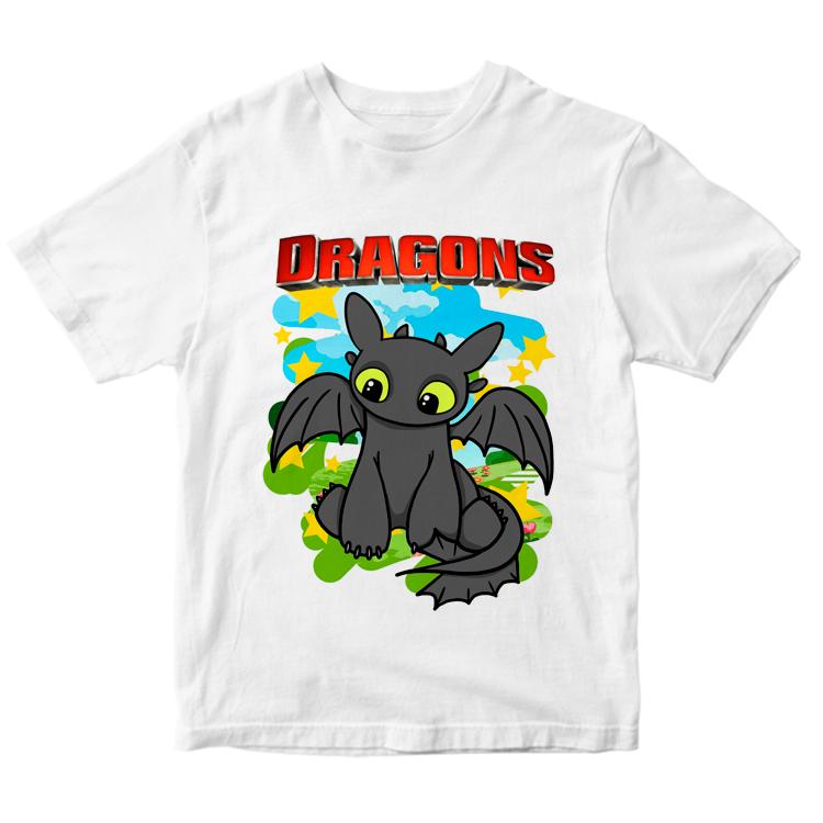 Детская футболка с рисунком Беззубика