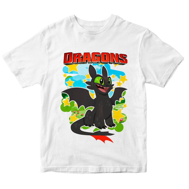 "Детская футболка ""Дракон Беззубик"""