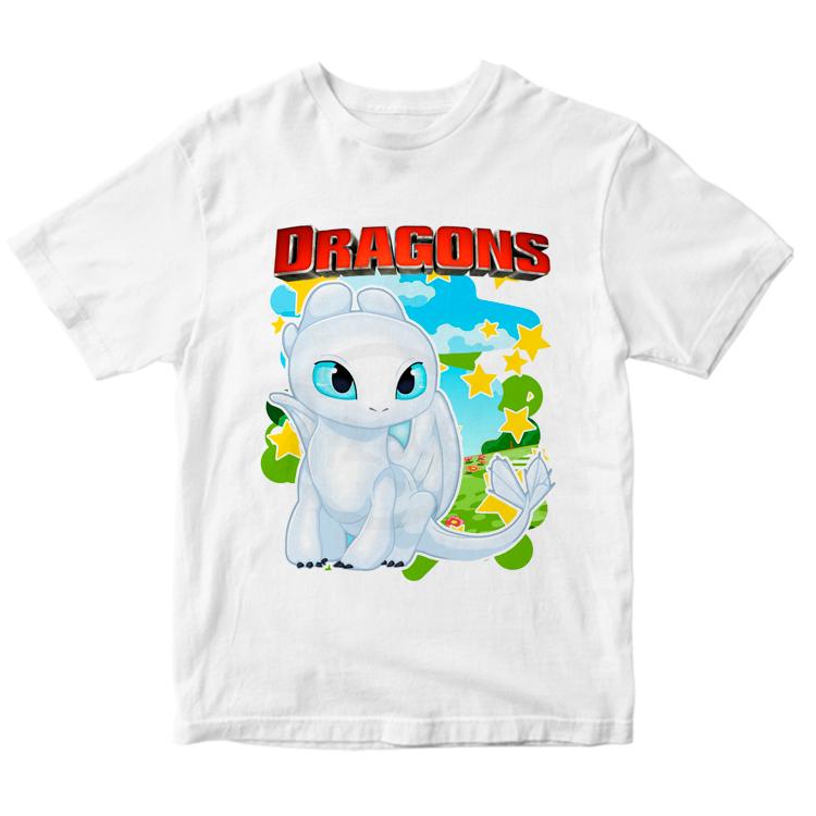 Детская футболка с рисунком дневной фурии