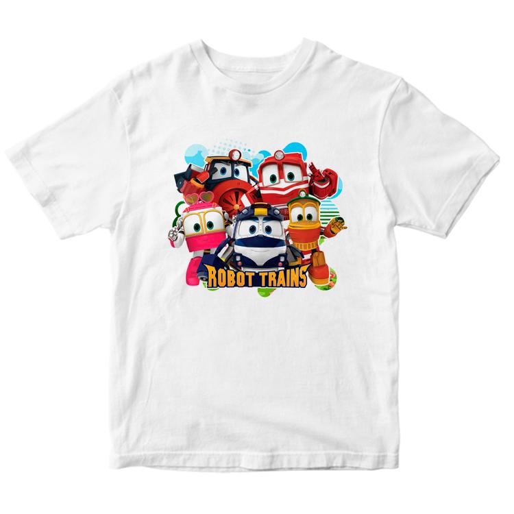 """Детская футболка """"Роботы поезда"""""""