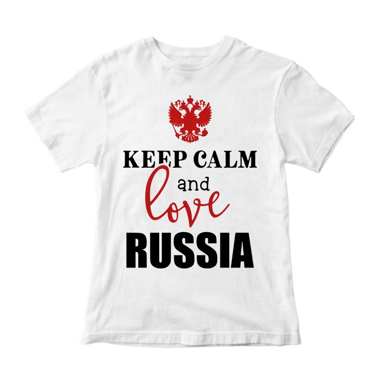 """Футболка """"Keep calm and love Russia"""""""