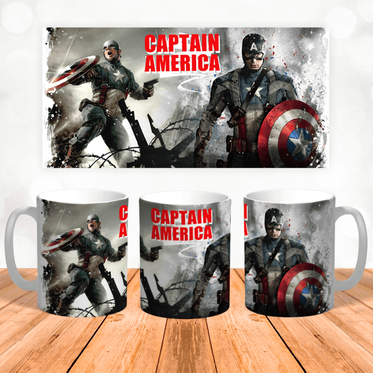 Кружка с Капитаном Америка