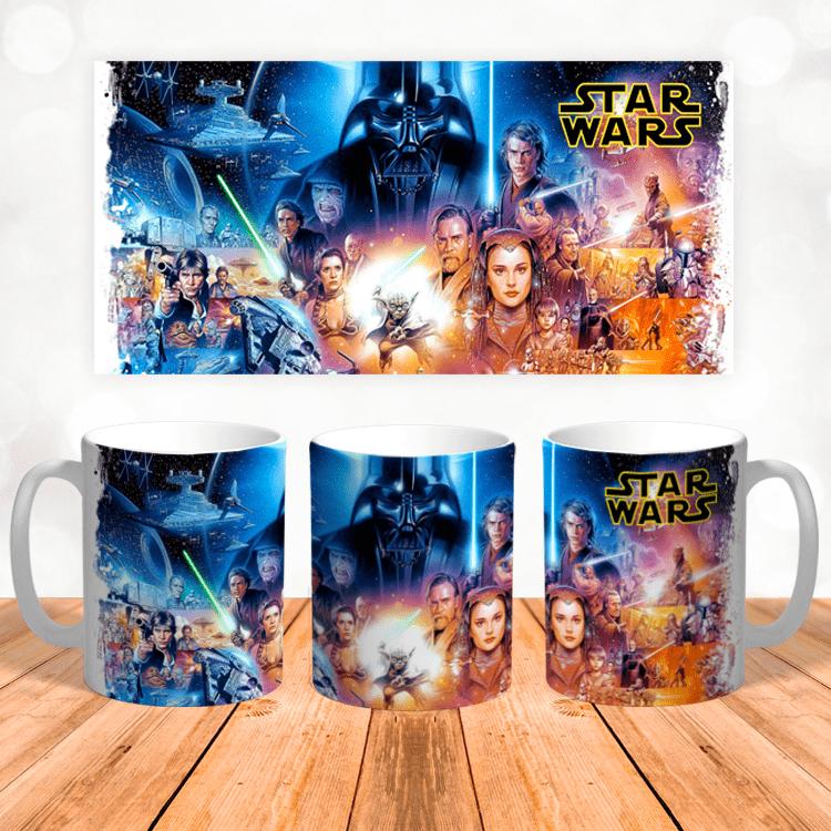 Кружка с персонажами Star Wars