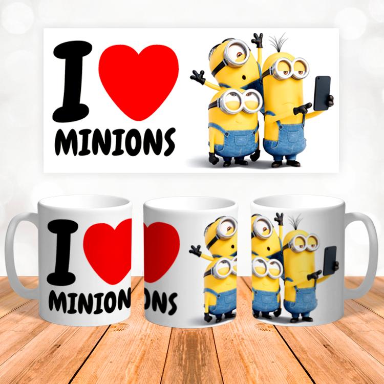 """Кружка """"I love Minions"""""""