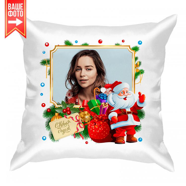 """Подушка с фото """"Санта Клаус"""""""