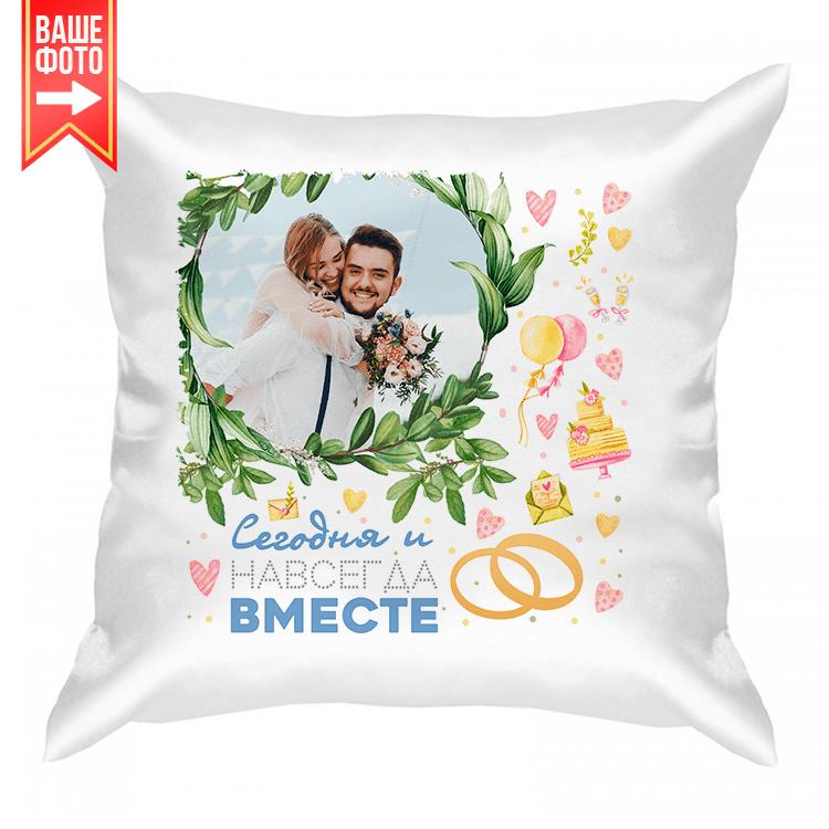 """Подушка с фото """"Свадьба"""""""